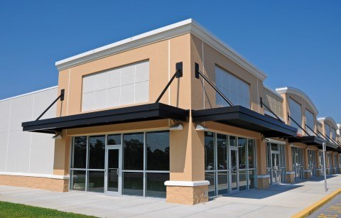 Commercial, exterior building cleaning