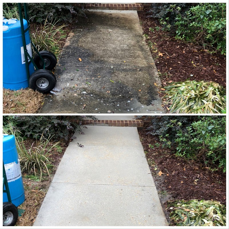 Concrete cleaning company professionals