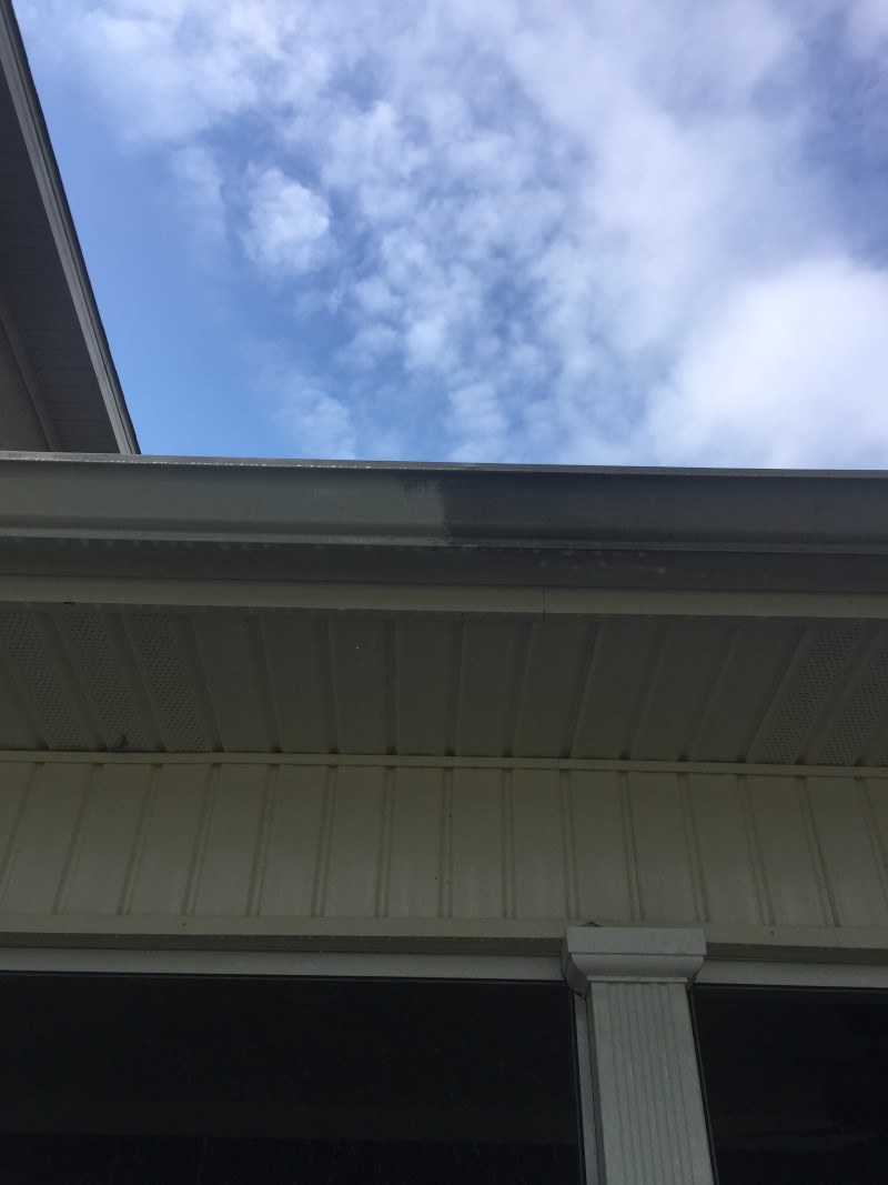 Paneling house gutter cleaning