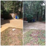 Concrete project before and after